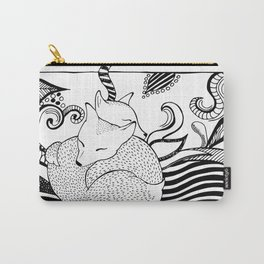 Hugging foxes Carry-All Pouch