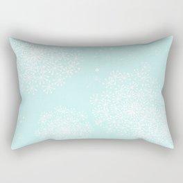 DANDY SNOWFLAKE AQUA Rectangular Pillow
