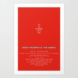 Scott Pilgrim vs. The World - Scott Art Print