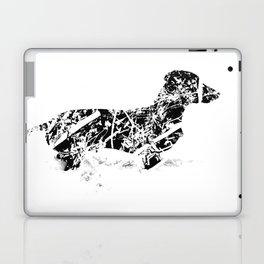 Dachshund in the snow Laptop & iPad Skin