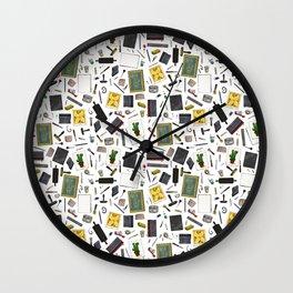 Printmaker's Supplies - Clear Wall Clock