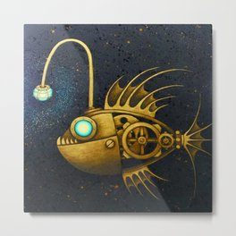mechanical angler fish Metal Print