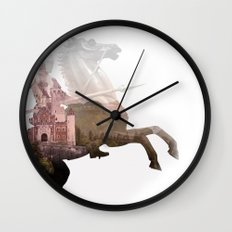Defend the Castle Wall Clock