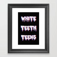 White Teeth Teens Framed Art Print