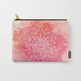 Pink Watercolor Mandala #lifestyle #society6 Carry-All Pouch