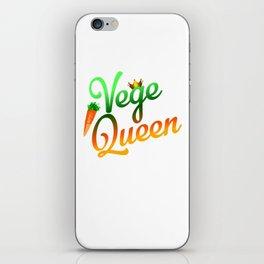Vege Queen iPhone Skin