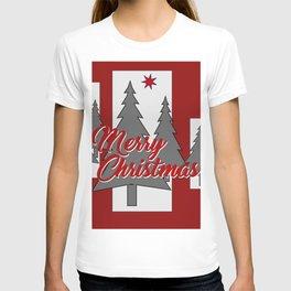 Tree Merry Christmas grey red III T-shirt