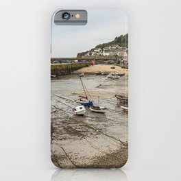 United Kingdom Mousehole Coast Boats Marinas Houses Cities Pier Berth Building iPhone Case
