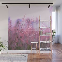 """""""May all your rolls be crits"""" floral d20 pattern Wall Mural"""