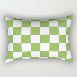 color of the year 2017  Greenery |checkerboard Rectangular Pillow