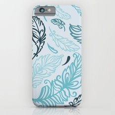 Pattern with colored feathers Slim Case iPhone 6s
