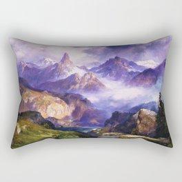 Index Peak, Yellowstone, Wyoming landscape alpine painting by Thomas Moran Rectangular Pillow