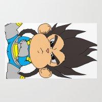 dbz Area & Throw Rugs featuring Monkey Vegeta by Kame Nico