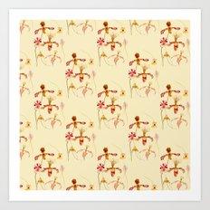 Wild orchids pattern Art Print