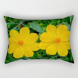 Two Yellow Flowers Rectangular Pillow