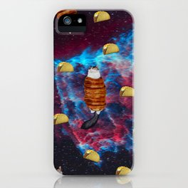 Cat Bacon and Taco Space iPhone Case