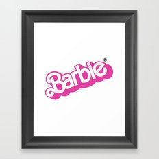 Barbie Girl Framed Art Print