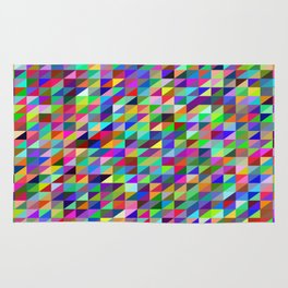Colorful small trangles digital pattern Rug
