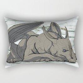 Grey Dragon Rectangular Pillow