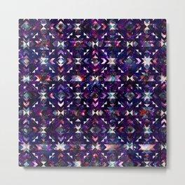 Purple Galaxy Quilt Metal Print