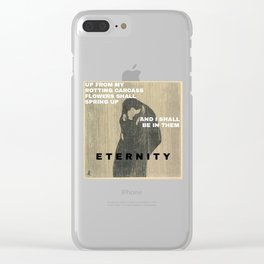 Munch + text Clear iPhone Case