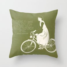 Audrey always knows what to say. Throw Pillow