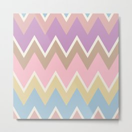 Abstract geometric pattern. Aztec style with triangle and line Metal Print
