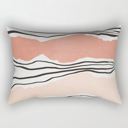 Modern irregular Stripes 01 Rectangular Pillow