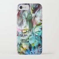 waterfall iPhone & iPod Cases featuring WaterFall by ART de Luna