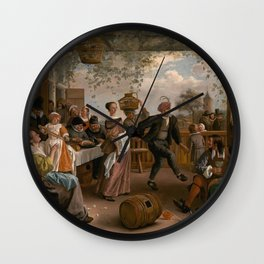 The Dancing Couple - Jan Steen Wall Clock