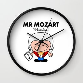 Mr Mozart Wall Clock
