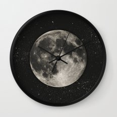 The Moon  [Sans Type] Wall Clock