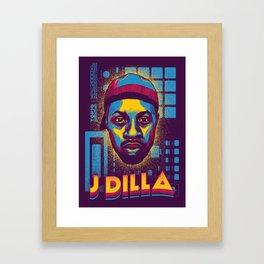 J Dilla ( Top 10 Producers series ) Framed Art Print