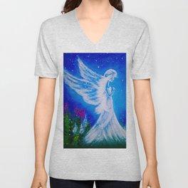 Angel at night  Unisex V-Neck