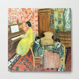 Henri Matisse Pianist and Checker Players Metal Print