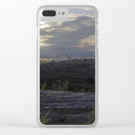 Sea-bleached wood Clear iPhone Case