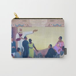 African American Masterpiece, Frederick Douglas Inspiring the Youth of the African American race by Bruno Peiser Carry-All Pouch