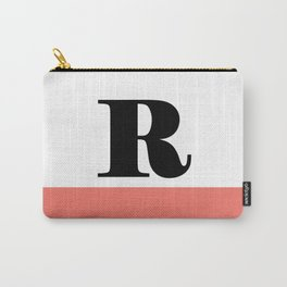 Monogram Letter R-Pantone-Peach Echo Carry-All Pouch