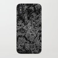 manchester iPhone & iPod Cases featuring Manchester  by Line Line Lines
