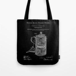 Gunpowder Can Patent - Black Tote Bag