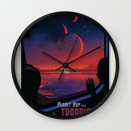 NASA Visions of the Future - Planet Hop from Trappist-1e Wall Clock