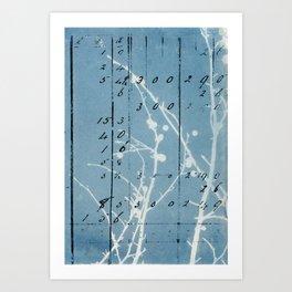 Floral Calculations Art Print