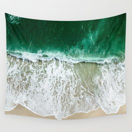 miami beach aerial view Wall Tapestry