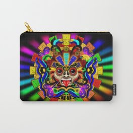 Aztec Warrior Mask Carry-All Pouch