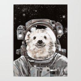 Astronaut Polar Bear Selfie Poster
