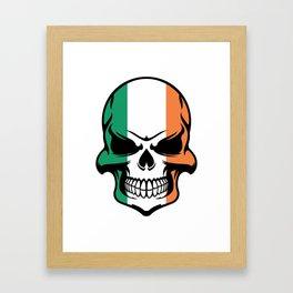 Irish Flag Skull Framed Art Print