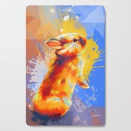 Colors of Fluff - Bunny portrait Cutting Board