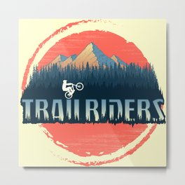 Trailriders Metal Print
