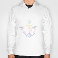 anchors Hoodies featuring Anchors by Amy Mancini