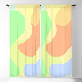 Abstract colorful blobs Blackout Curtain
